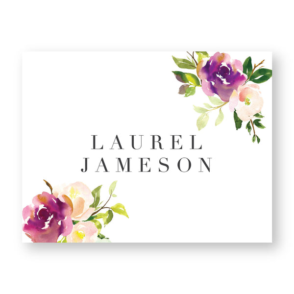 Graceful Bouquet Personalized Folder Stickers