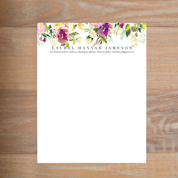 Graceful Bouquet social resume letterhead without formatting