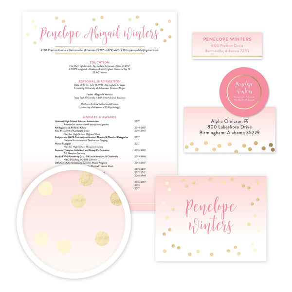 Gradient Confetti Sorority Packet