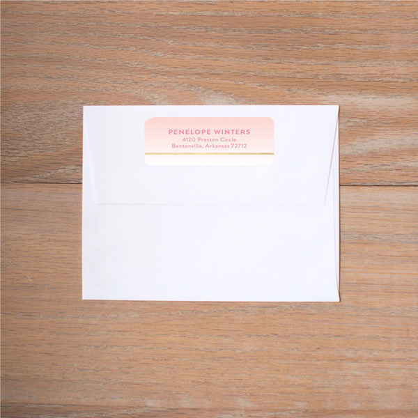 Gradient Confetti Return (Home) Address Labels