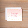 Gradient Confetti personal note card (if you choose to print with us, you will also receive envelopes with your note cards)