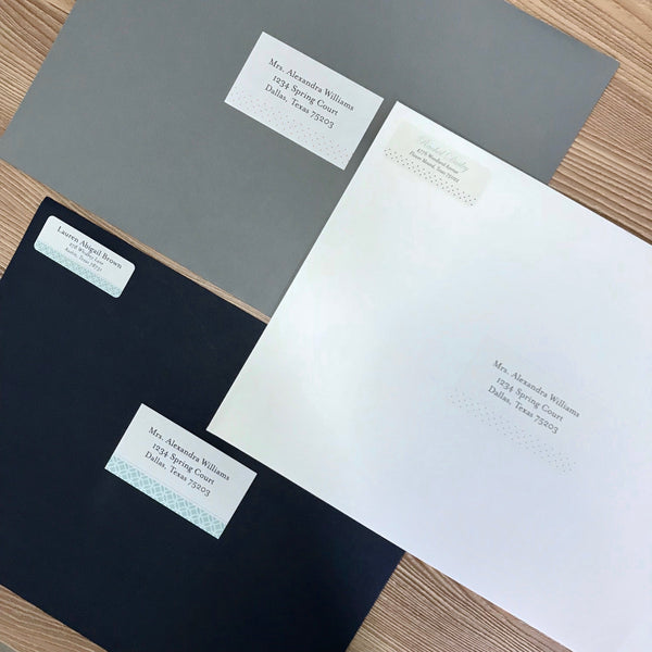 Mailing Envelopes in Pewter, Night, and White