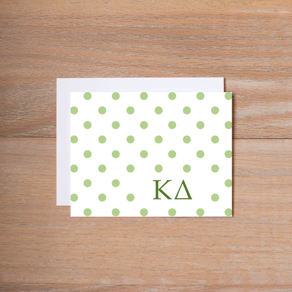 Kappa Delta Dotted Sorority Note Card