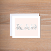 Kappa Alpha Theta Marble & Blush Sorority Note Cards