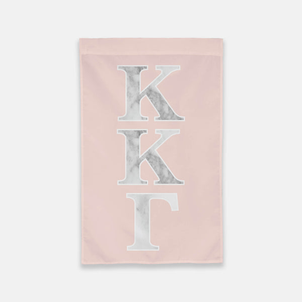Kappa Kappa Gamma Vertical Greek Letter Flag