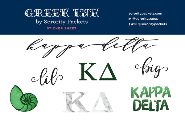 Kappa Delta Sticker Set