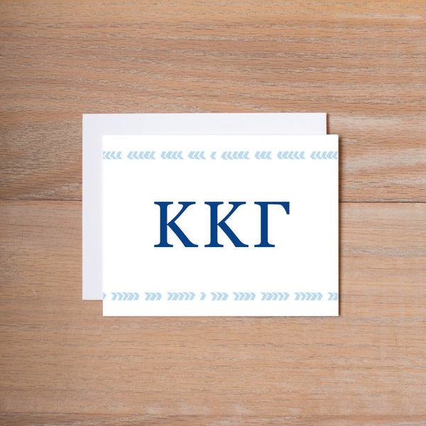 Boho sorority note cards (set of 10—traditional sorority colors)