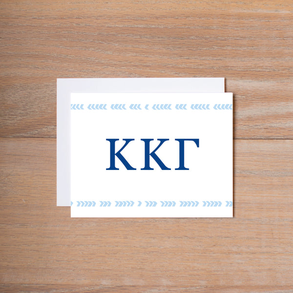 Kappa Kappa Gamma Boho Sorority Note Cards