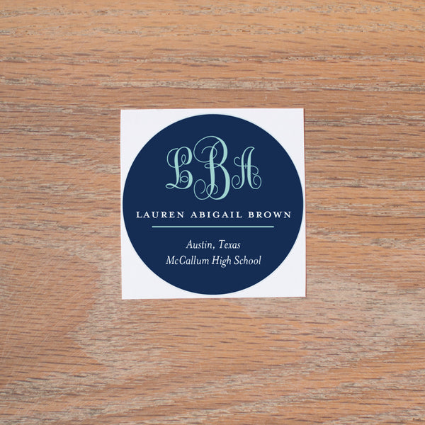 Lattice Monogram personal sticker