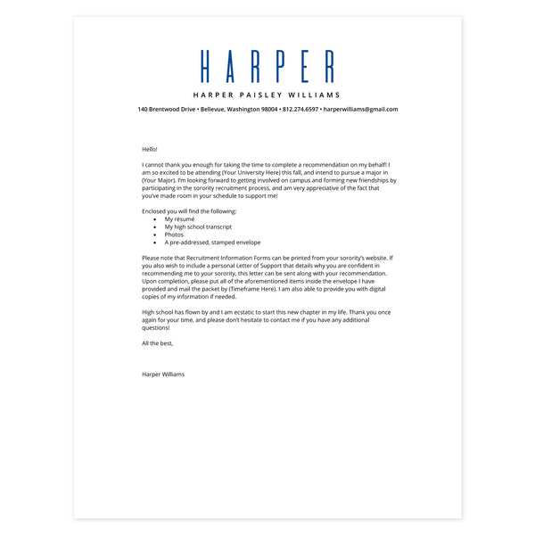 Cobalt Cover letter template