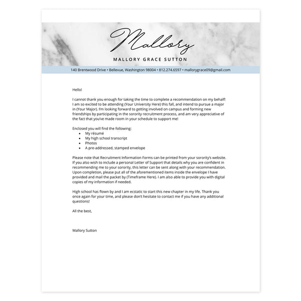 Cloud Cover letter template