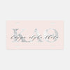 Kappa Alpha Theta Marble & Blush License Plate