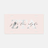 Zeta Tau Alpha Marble & Blush License Plate