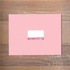 Modern Watercolor Mailing Label shown in Peony