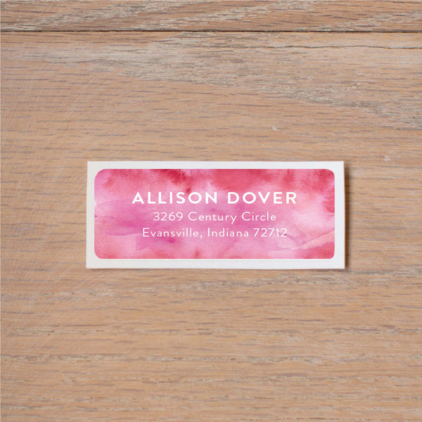 Modern Watercolor return (home) address label