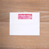 Modern Watercolor Return (Home) Address Label shown in Peony