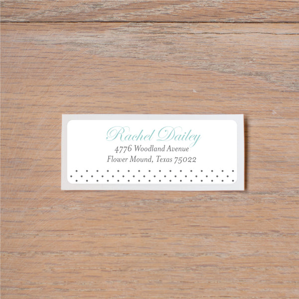 Monogram Block return (home) address label