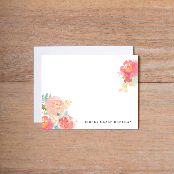 Peony Garden personal note card