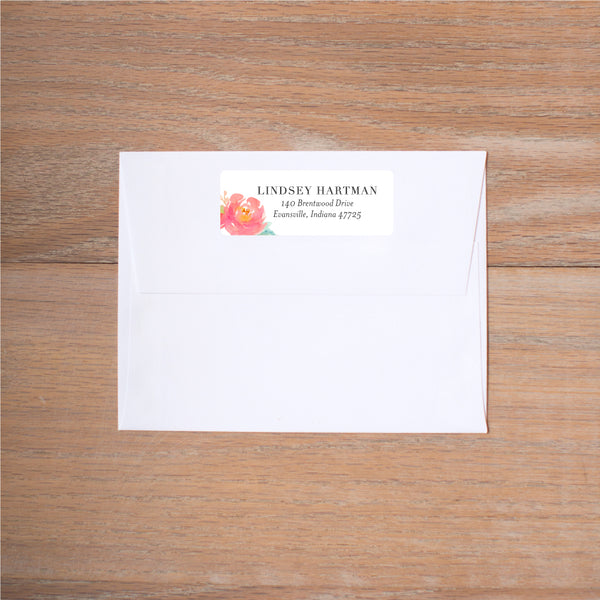 Peony Garden return (home) address label