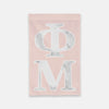 Phi Mu Vertical Greek Letter Flag