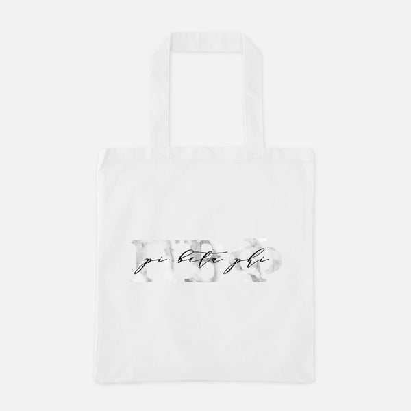 Pi Beta Phi Marble Greek Letters Tote