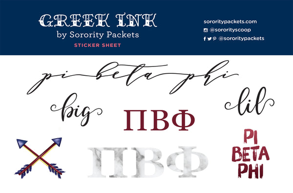 Pi Beta Phi Sticker Set