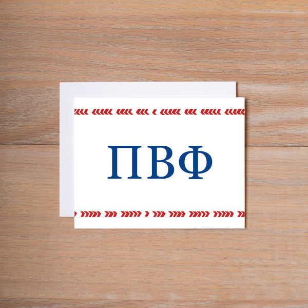 Pi Beta Phi Boho Sorority Note Cards