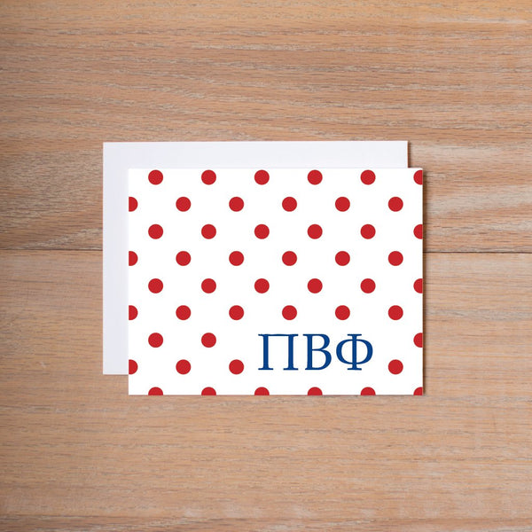 Dotted sorority note cards (set of 10—traditional sorority colors)