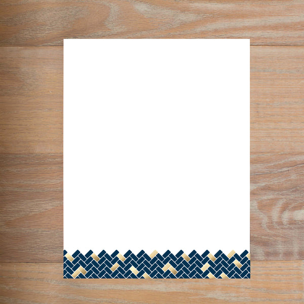 Golden Herringbone Custom Letterhead