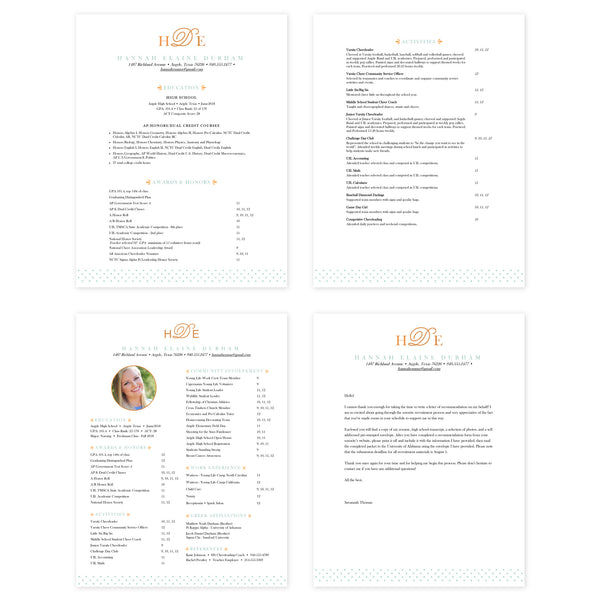 Sweet Monogram Microsoft Word Resume Templates