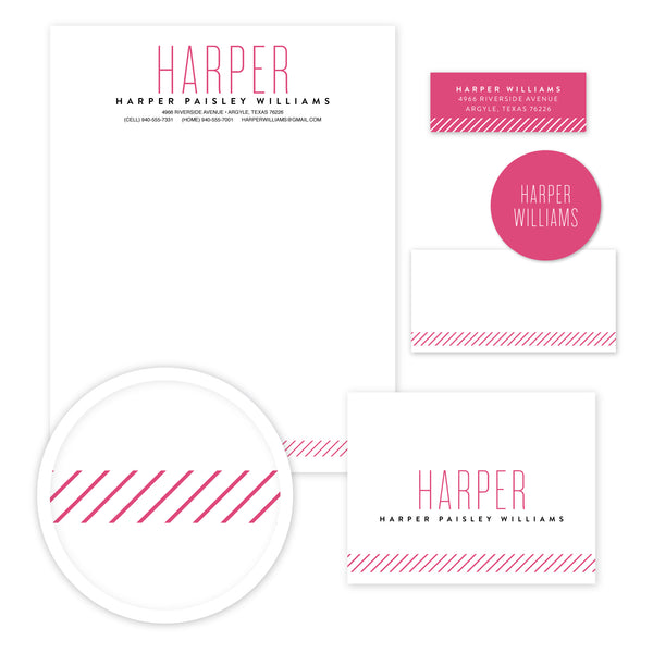 Big Name Stationery Set - Large
