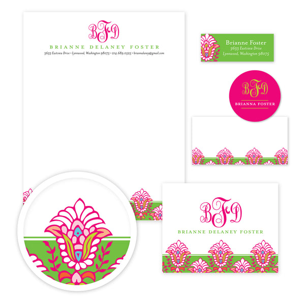 Bright Garden Stationery Set - Large