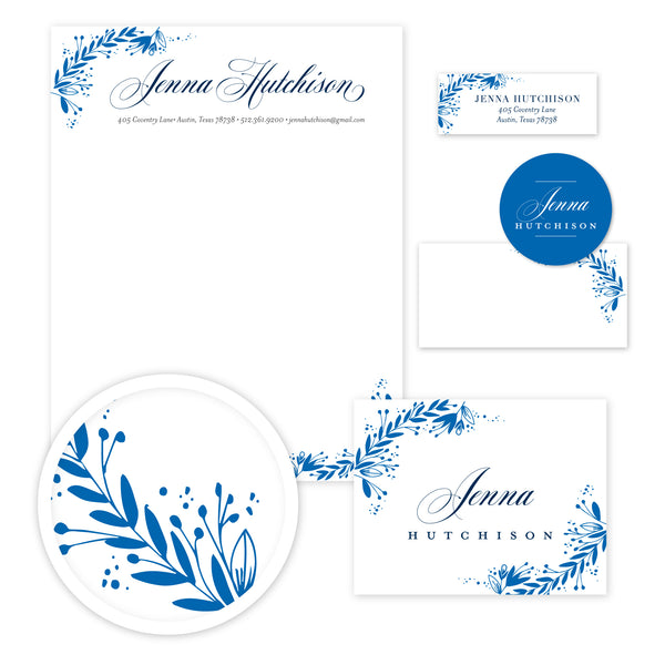 Garden Branches Stationery Set - Large