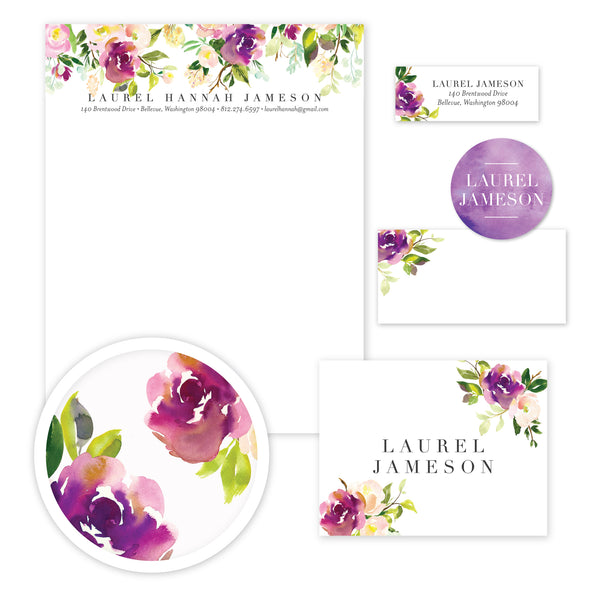 Graceful Bouquet Stationery Set - Large