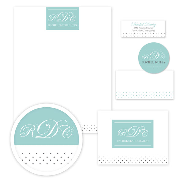 Monogram Block Stationery Set - Large