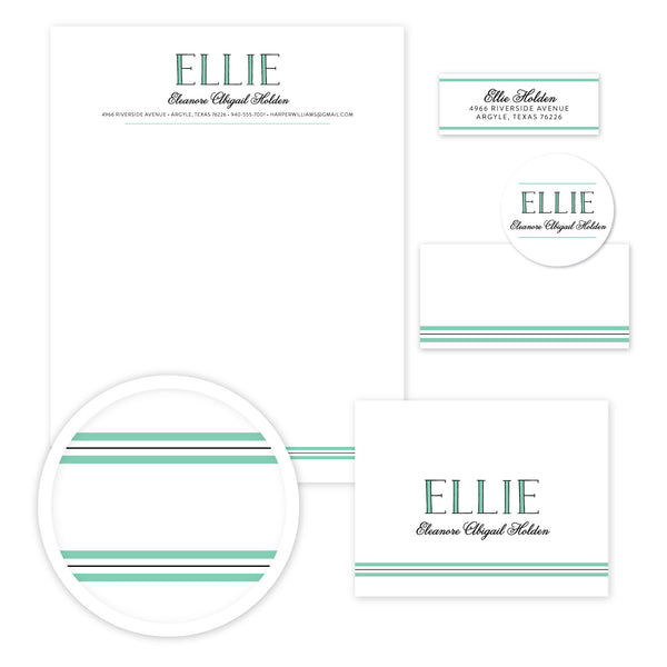 Preppy Name Stationery Set - Large