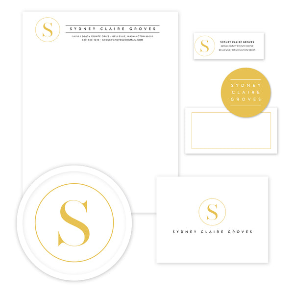 Simply Modern Initial Stationery Set - Large
