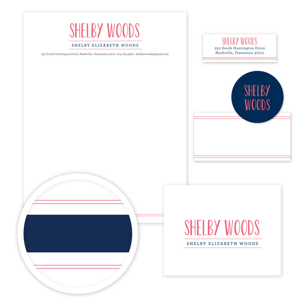 Simply Preppy Stationery Set - Large