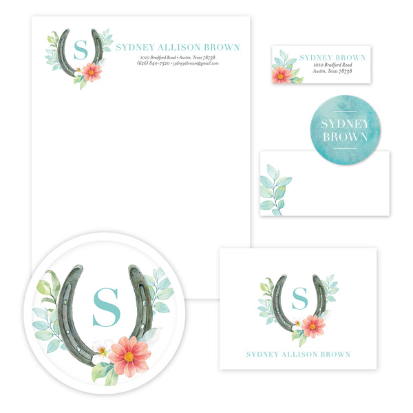 Sweet Horseshoe Stationery Set - Large