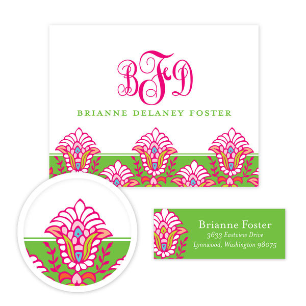 Bright Garden Stationery Set - Small