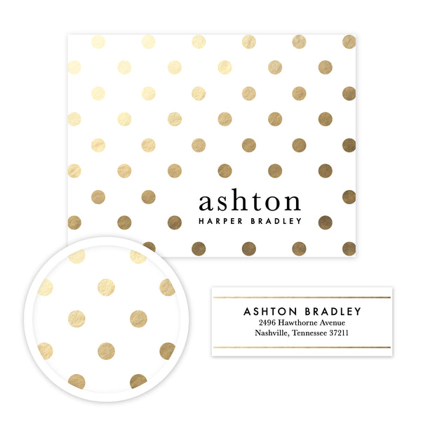Golden Dots Stationery Set - Small