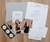 Golden Dots sorority packet shown with Fog pocket folder