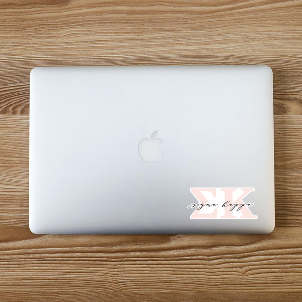 Sigma Kappa Vinyl Blush Sorority Decal