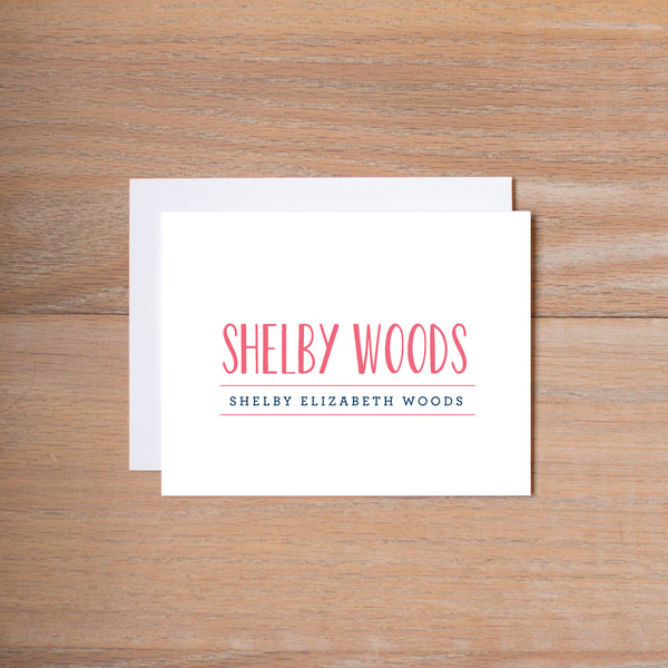 Simply Preppy personal note card