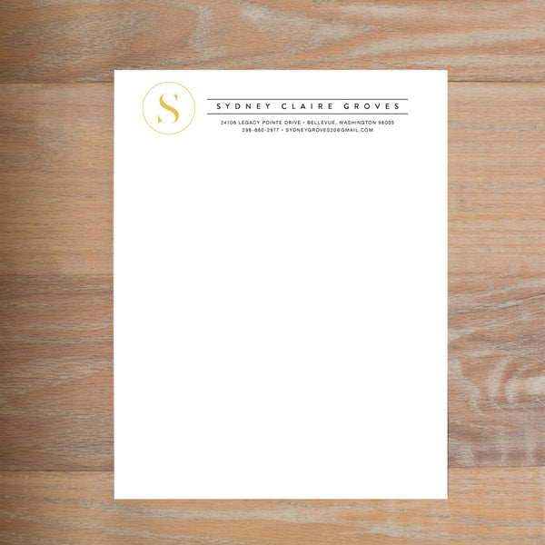 Simply Modern Initial Fully-Formatted Sorority Resume