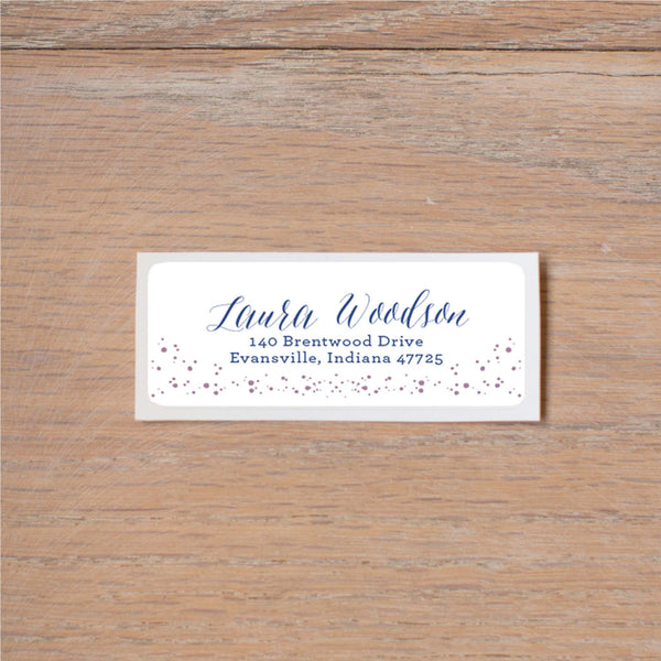 Succulent Garden return (home) address label