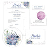 Succulent Garden Sorority Packet shown in Cobalt