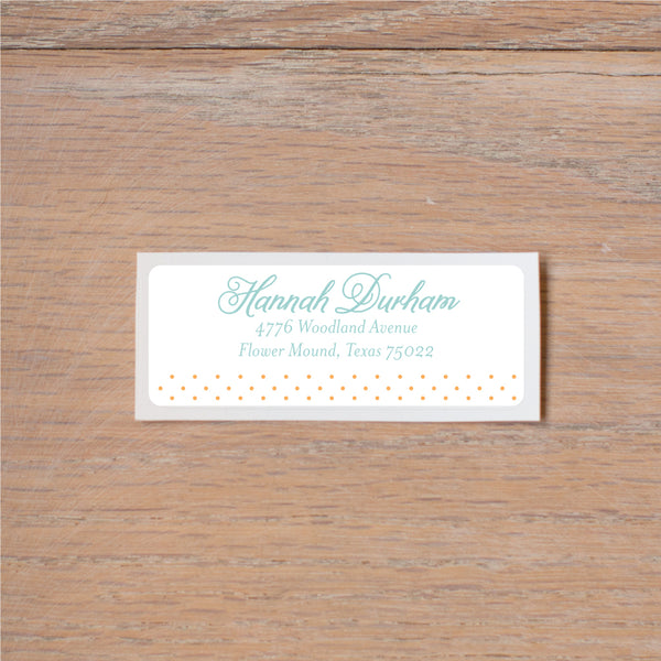 Sweet Monogram Return (Home) Address Labels