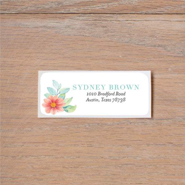 Sweet Horseshoe return (home) address label