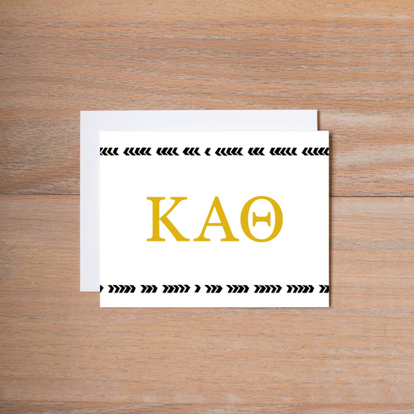 Kappa Alpha Theta Boho Sorority Note Cards